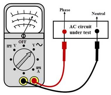 Testing Voltage With Multimeter Diagram