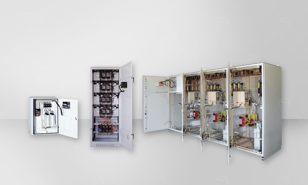 Automatic capacitor banks type QR are used for the power factor correction of inductive character loads in low voltage power networks.