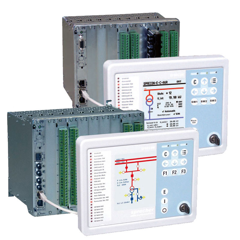 Control relays aere used to control of power equipment in a power plant , post , refineries , etc . types of these relays are Station Controller، Bay Controller , Synchro-check , frequency load shedding , automatic voltage regulator and alarm unit .