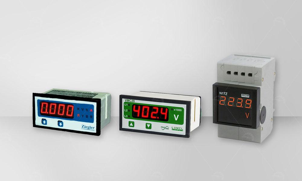 Digital Ammeter Panel Mount : Digital ammeter and voltmeter