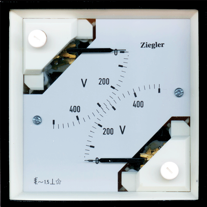 2 in 1 pointer type analoge panel meter come in 96 mm × 96 mm size. These measure AC current & voltage depending upon the application. These combine two measuring systems independent of each other . The double voltmeter to measure the voltage of two different sources in order to are use to synchronize these two sources . Bornika is the exclusive agent of Zeigler and Enerdis in the fields of consultation, sales and distribution of power industry products including Dual Moving Iron AC meters anad Double Voltmeter.