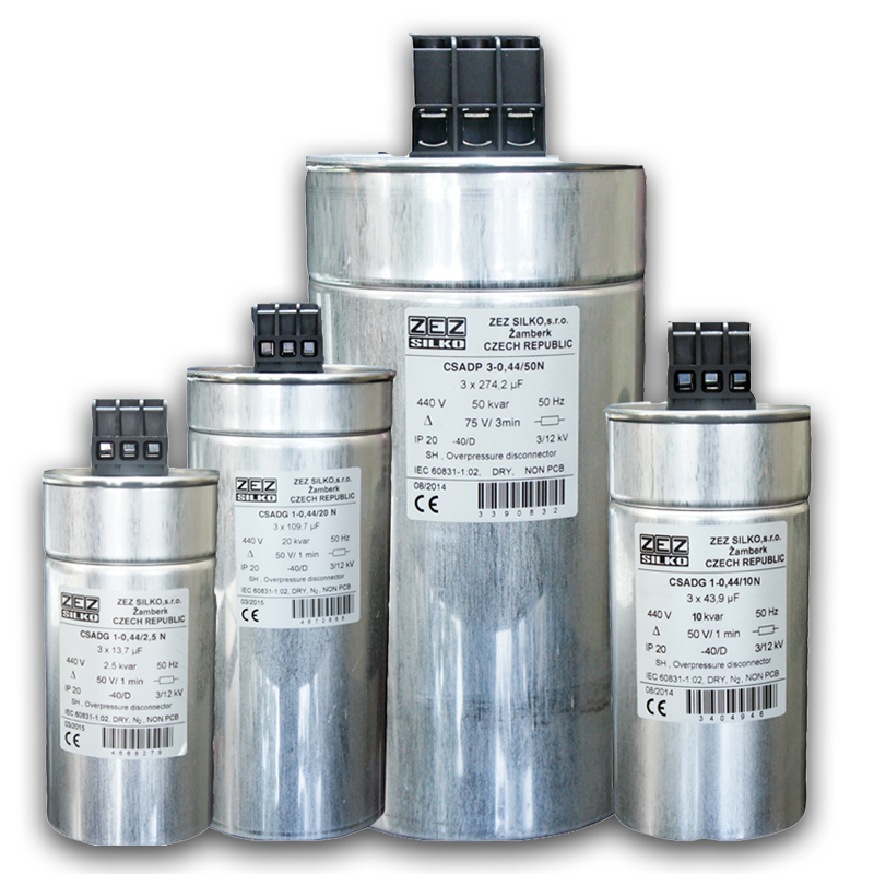 Dry Cylindrical Capacitor 440V AC
