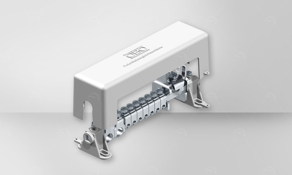 This type of  terminals are used for distribution to various parts of the earth cable . Lightning current carrying capacity 100 kA (10/350) .