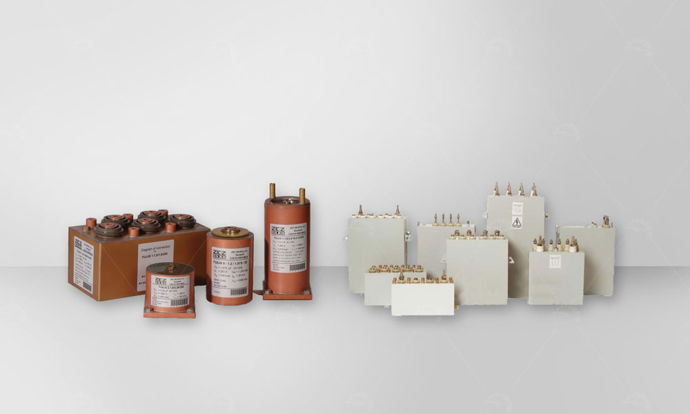 Water cooled power capacitors are designed for use on induction furnaces and heaters. They improve power factor or tune special furnace circuits.