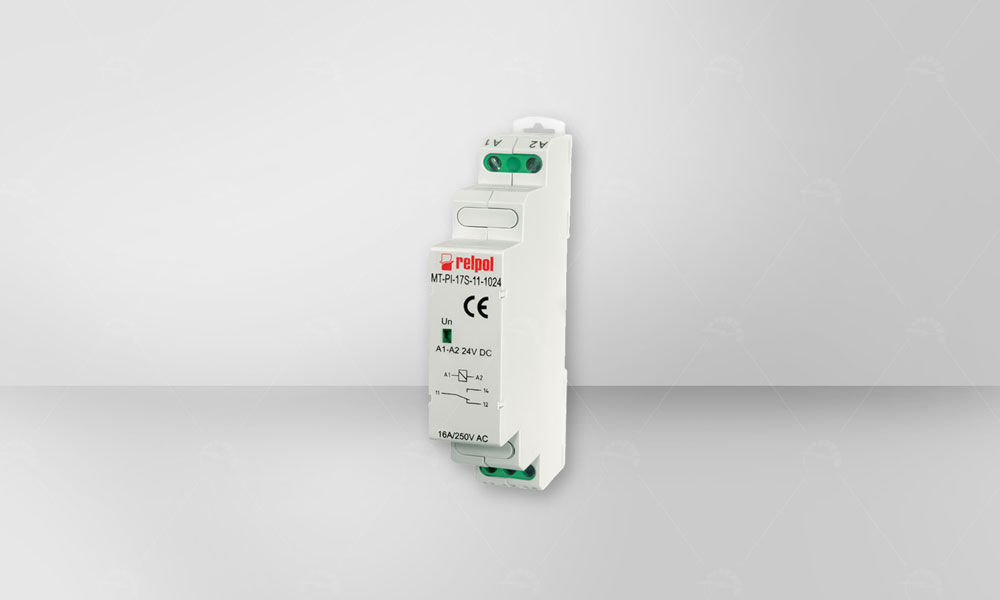 Electromagnetic relays of the MT-PI-... series in installation module cover, designed for direct mounting on 35 mm rail .