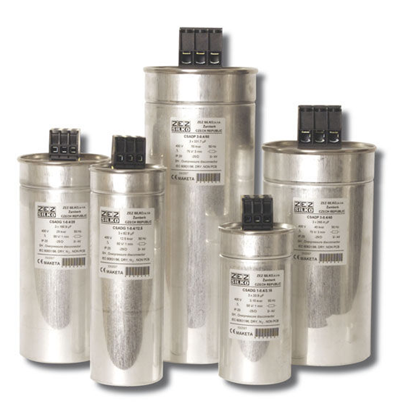 Capacitors are intended for the improvement of Power Factor in low voltage power networks. Used MKP technology consists of metallized PP film with extremely low loss factor.