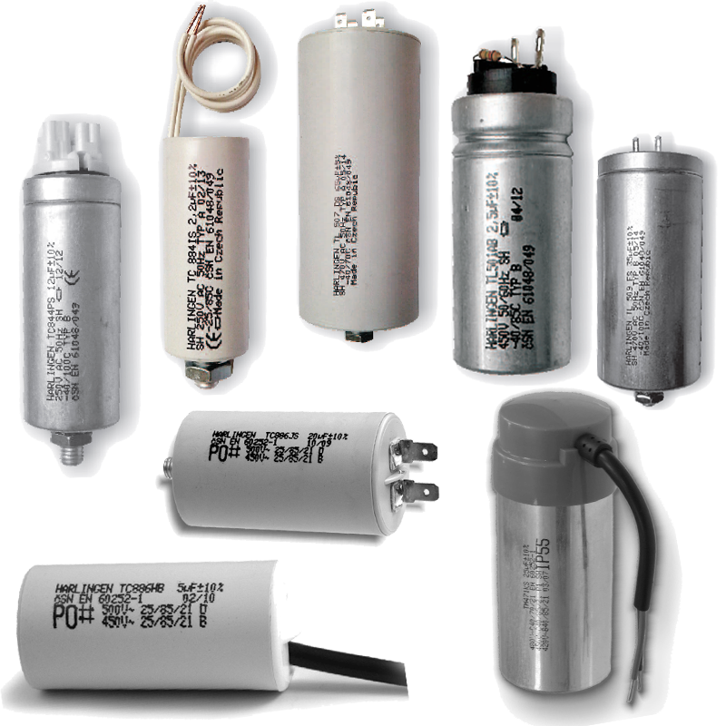 Motor and lighting capacitors