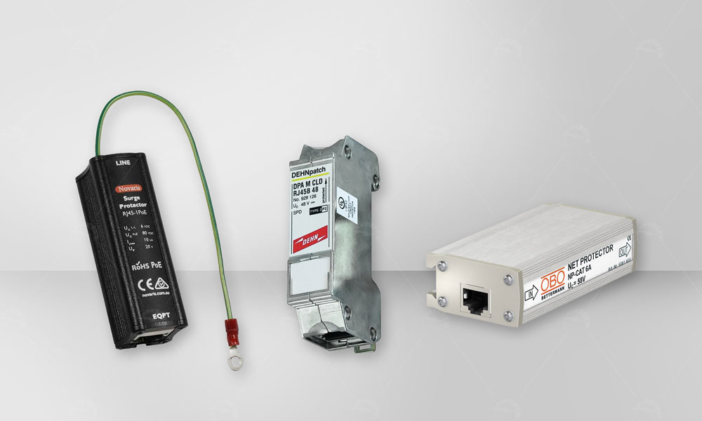 This type of surge arrester is used to protection against lightning and overvoltage  for computer networks, telecommunications and radio .