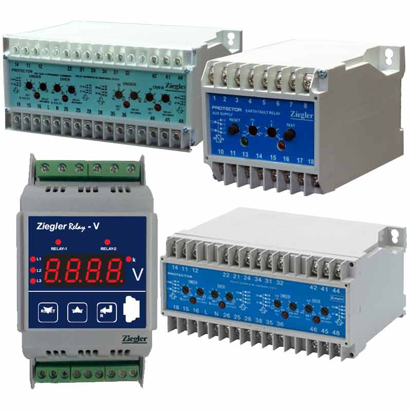 This type of protective relays , provide continuous surveillance of circuit . Mainly cover one or two protective function , and if the measured value the monitored moves outside the set point limit , the relay will operate .