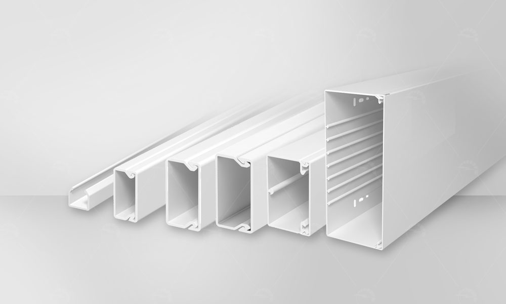 WKD cable trunking systems made from PVC plastic Suitable for residential , office, commercial, etcplaces. are available with the following characteristics:
