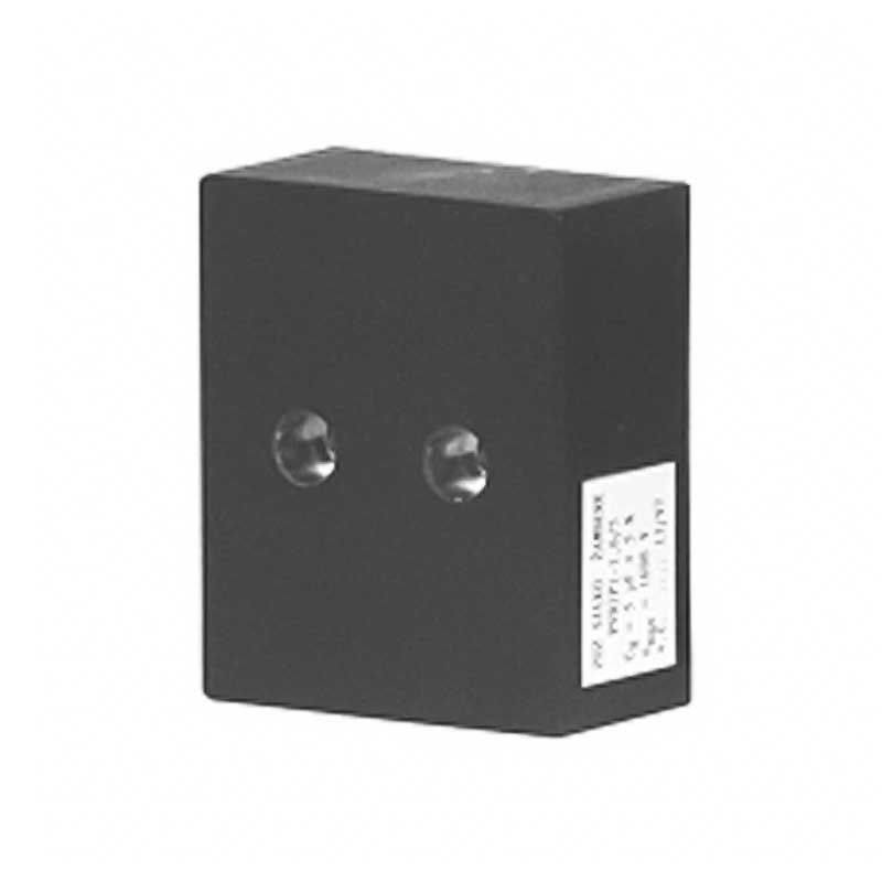 Black Rectangular case capacitor PVDJP 3-1,6/2