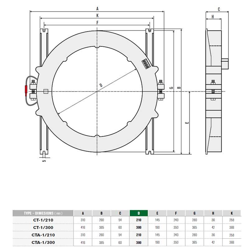 core balance current transformer ct 210  cbct
