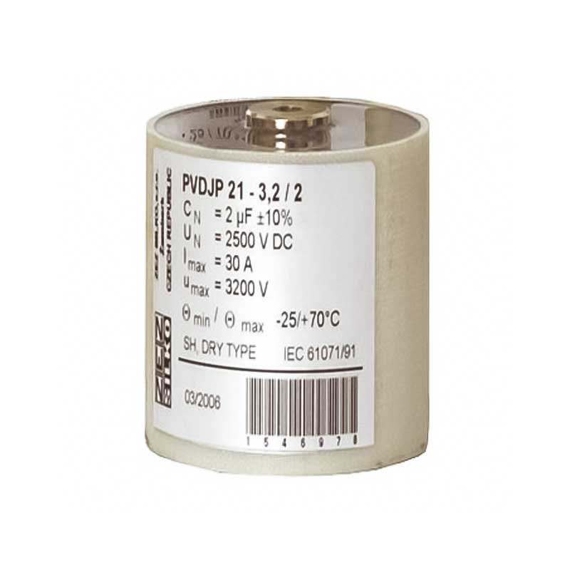 Cylindrical case Snubber capacitor PVDJP 21-2/8