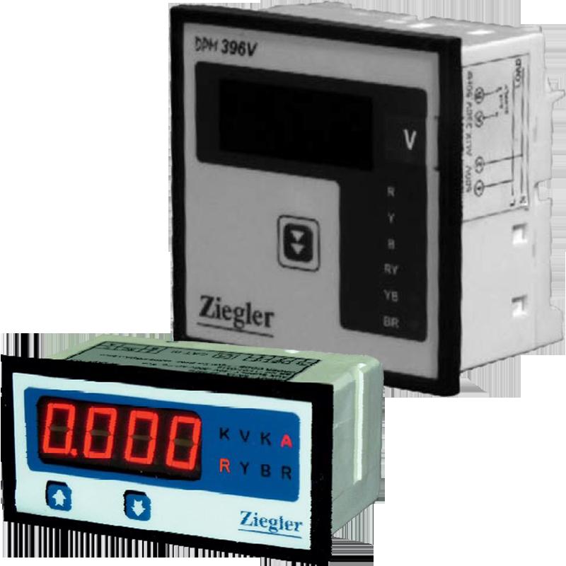 Digital Ammeter Panel Mount : Digital panel ammeter voltmeter
