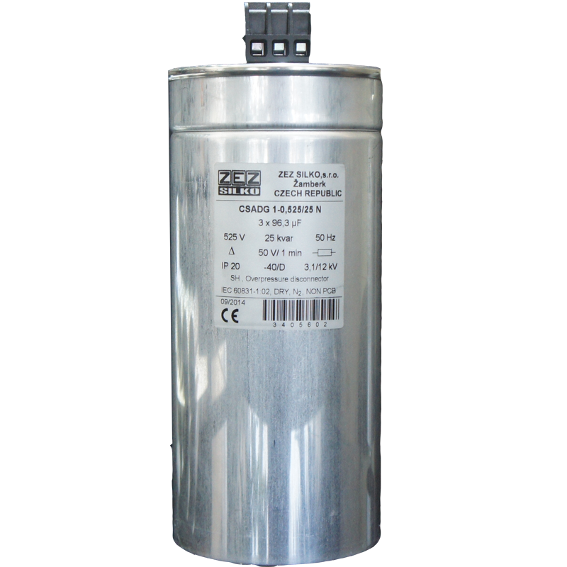 Gas Filled Capacitor 25kvar-525 V
