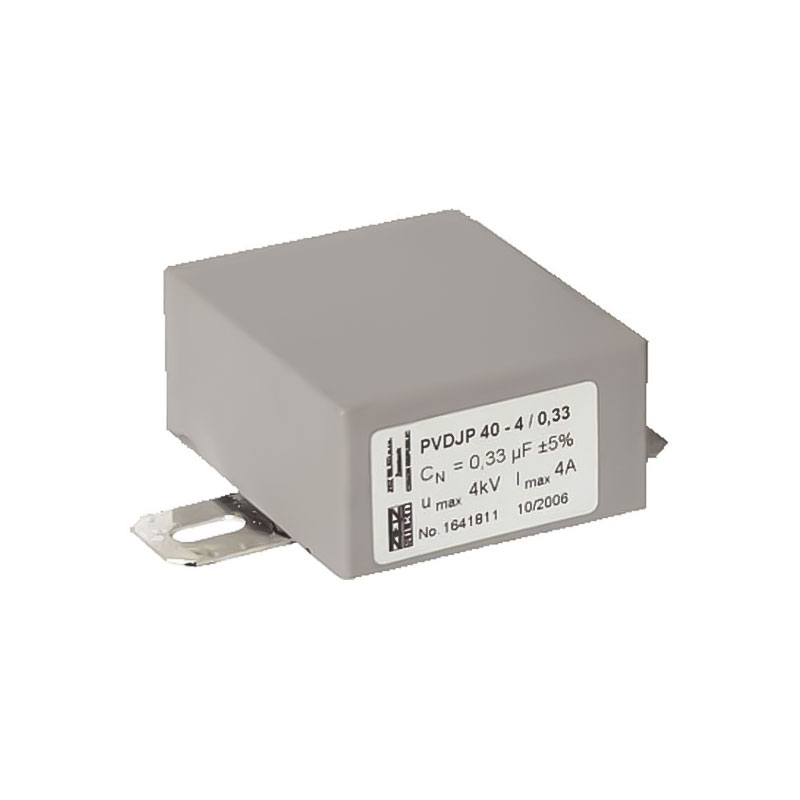 Grey Rectangular case capacitor PVDJP 40-2,5/1