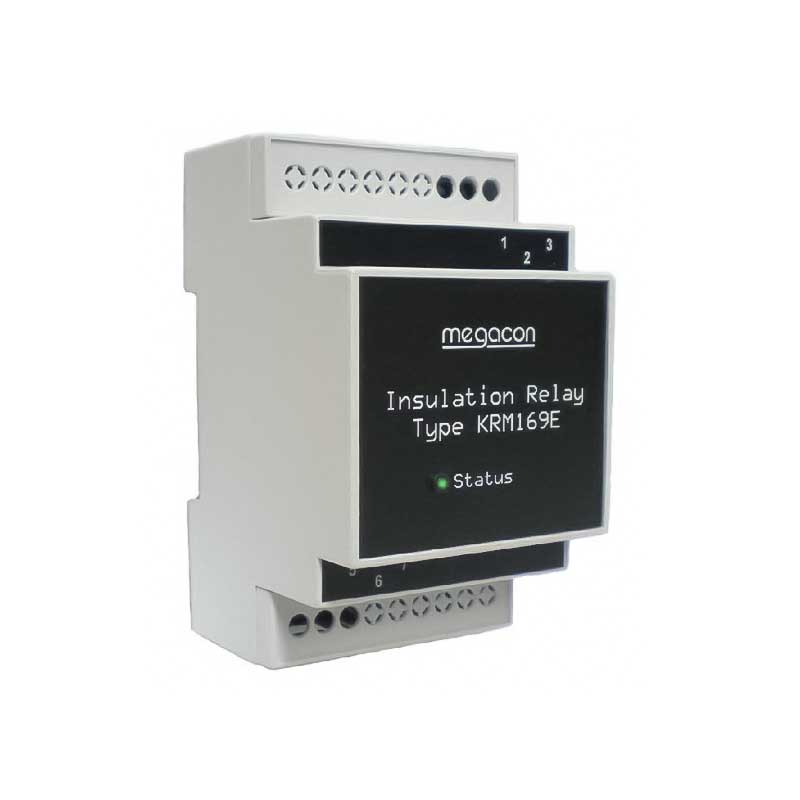 Insulation relay for non-grounded live DC mains