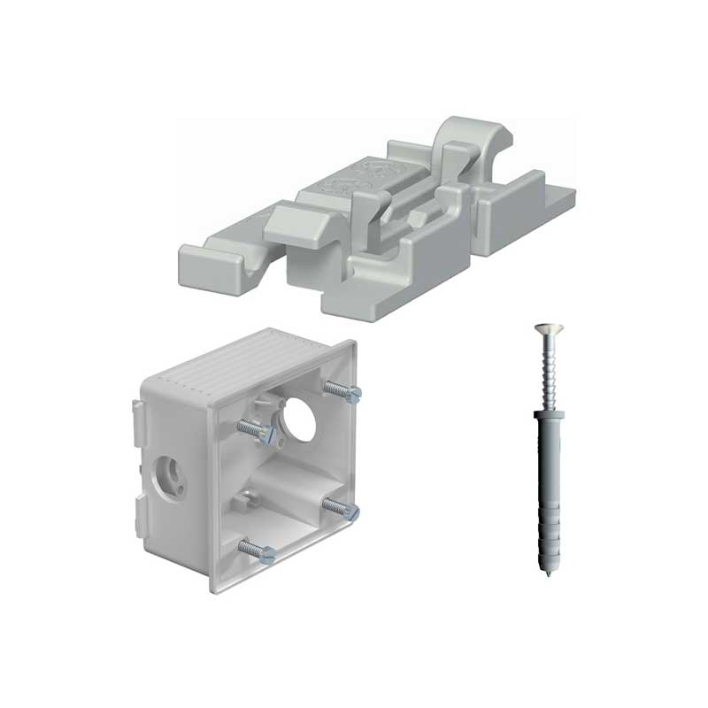 Plastic cable routing trunking accessories