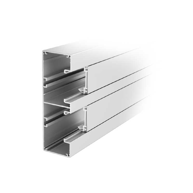 Rapid 45 aluminium trunking 2-compartment