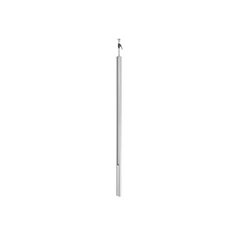 Floor-ceiling ISS twin aluminium service pole type ISST70140