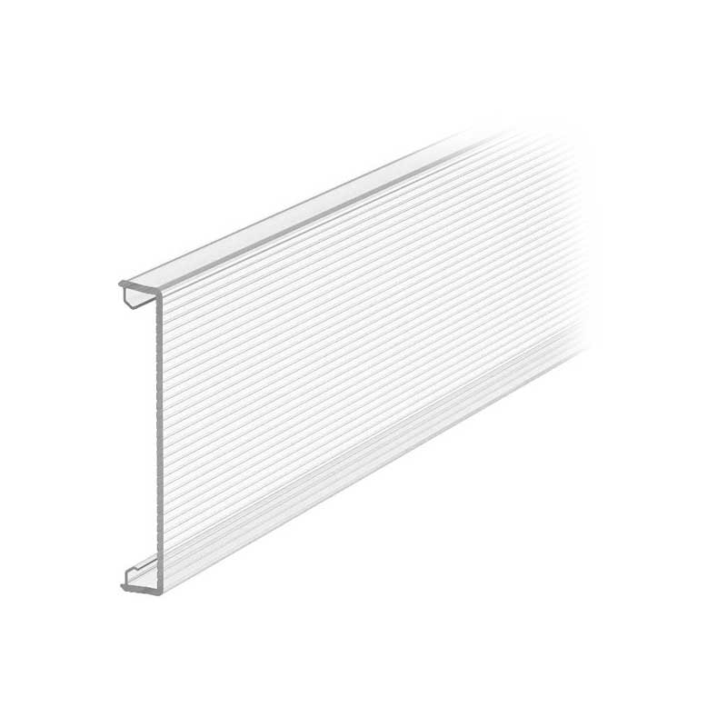 Trunking cover Rapid 80, PC, clear, fluted inside
