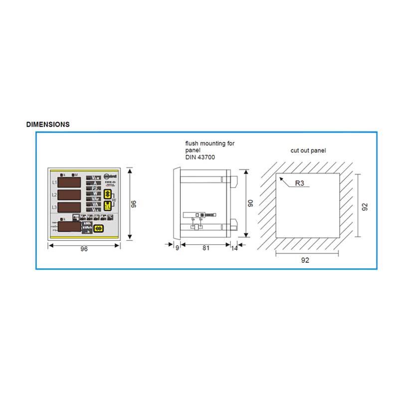 flush mounted multifunction meter