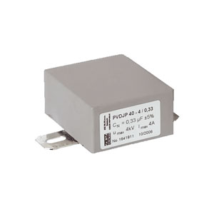 Grey Rectangular case capacitor PVDJP 40-3,0/0,68
