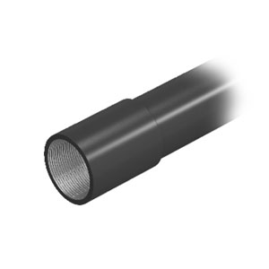 Black powder-coated steel pipe