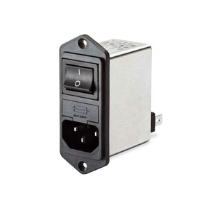 Compact filtered power entry module