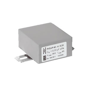 Grey Rectangular case capacitor PVDJP 40-4,0/0,47