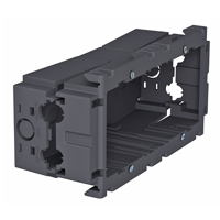 Accessory mounting box, double