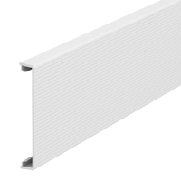 Trunking cover, fluted