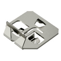 Hold-down clamp for barrier strip fastening VA