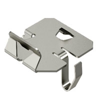 Hold-down clamp for barrier strip fastening in RKSM